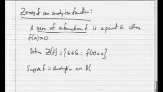 Mod-04 Lec-04 Zeroes Of Analytic Functions