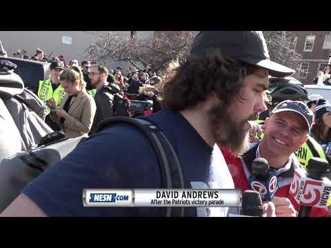 Video: David Andrews at the Patriots Super Bowl 53 victory parade