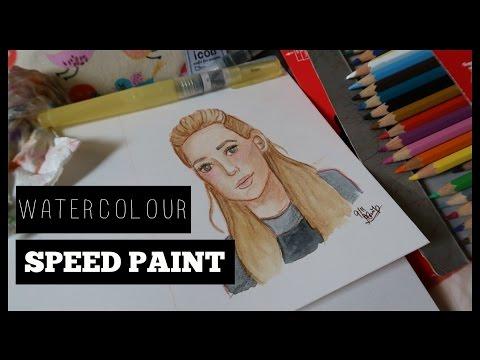 WATERCOLOUR SPEEDPAINT ft. White Nights Watercolours | Daniella