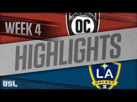 Оранж Каунти Блюз - LA Galaxy 2 3:0. Видеообзор матча 08.04.2018. Видео голов и опасных моментов игры