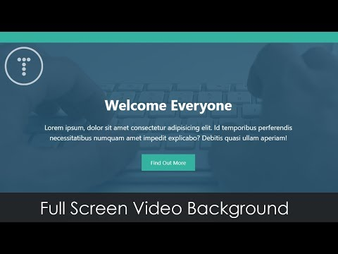 Fullscreen Video Background With HTML & CSS