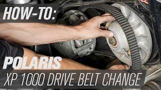 10. Polaris OEM Drive Belt Change | Polaris RZR XP 1000