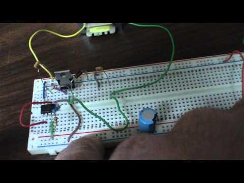 12 Volt 1 or 2  Watt CFL Driver - 555 Oscillator / Inverter - Sentex Kyle Mod II