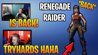 Streamers React to *SUPER RARE* Renegade Raider Skin COMING BACK to Fortnite