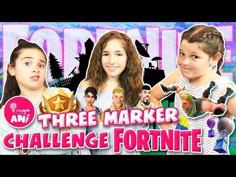 ¡¡THREE MARKER CHALLENGE CON LADY PECAS Y CLODETT!!  ¿CON BAILES DE FORTNITE?