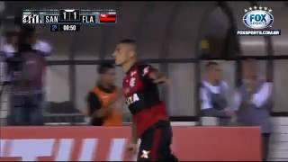 Gol de Guerrero contra o Santos pela Copa do Brasil