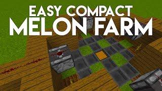 •EASY COMPACT MELON FARM! (MC 1.12 TUTORIAL)•