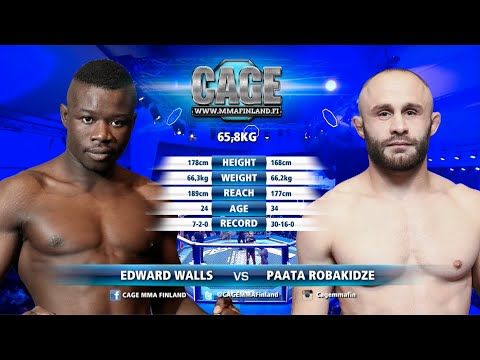 CAGE 45 Edward Walls Vs Paata Robakidze Full Fight MMA