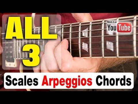 BADASS GUITAR DRILL: Scales, Arpeggios, Chords [HIT ALL 3]