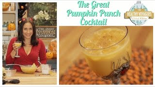 Vegan Rum Pumpkin Halloween Cocktail