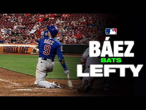 Video: Cubs' Javier Baez bats lefty vs Reds position player