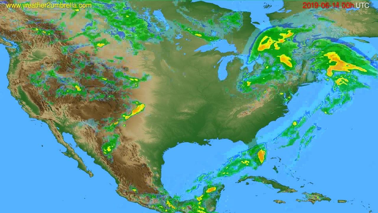 Radar forecast USA & Canada // modelrun: 12h UTC 2019-06-13