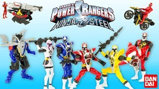 Power Rangers Ninja Steel Figurines Armure Moto Station Combat DX Jouet Toy Review Bandai Noel