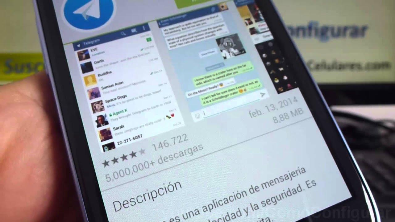 Descargar como descargar telegram android apk gratis samsung Galaxy s3 mini español Full HD para Celular  #Android