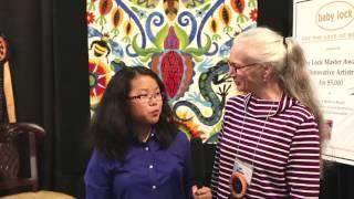 Sophie Rubin visits with Jane Sassaman