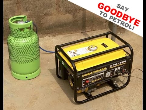 How to convert and run your portable generator on gasoline, natur