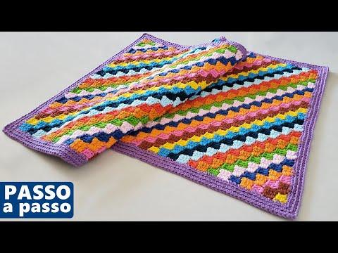 O que fazer com RESTOS de fio? Tapete colorido de crochê com a técnica C2C