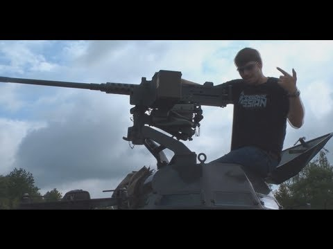 FPSRussia - 50 Cal Machine Gun VS. 250 Watermelons