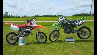 3. Kawasaki Kx 100 vs Honda Cr 85!!!