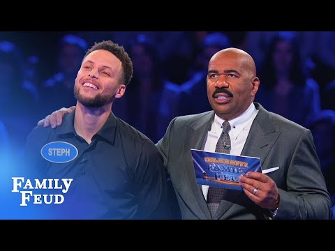 Ayesha & Steph Curry SLAM DUNK Fast Money! | Celebrity Family Feud