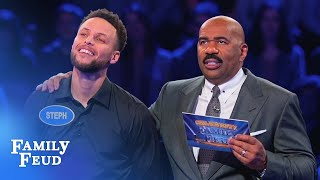 Video Ayesha & Steph Curry SLAM DUNK Fast Money! | Celebrity Family Feud MP3, 3GP, MP4, WEBM, AVI, FLV Desember 2018
