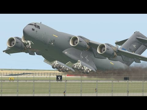 Pilot Of Military Aircraft C-17 Got Fired After He Did This During Emergency Landing   X-Plane 11