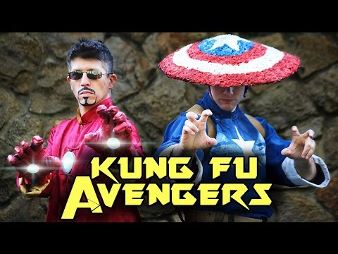 Iron Man VS Captain America dùng võ Kung Fu