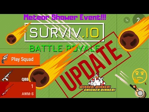 Surviv.io Update: METEOR SHOWER LIMITED TIME EVENT - new guns and more!!!
