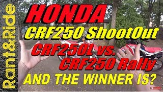 6. Honda CRF250L vs. CRF250 Rally Shootout Best 250 Dual sport buy