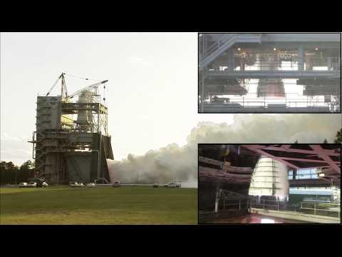 NASA показало испытания ракетного двигателя для полетов на Марс