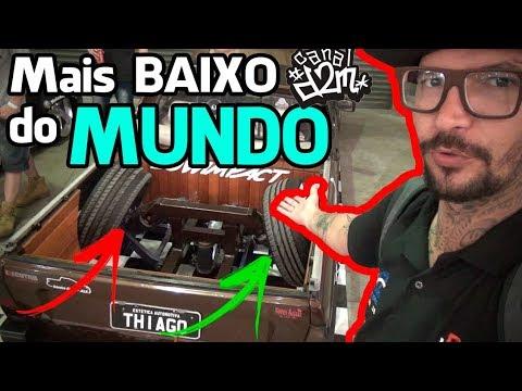 O CARRO MAIS BAIXO DO MUNDO é BRASILEIRO ! Olha ele Aqui ! ExpoCriciuma = Canal D2M