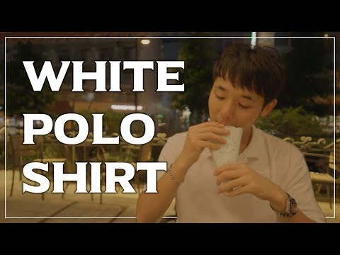 【OUTFIT】HOW ABOUT A WHITE POLO SHIRT?🎧Ambience Sound | 白ポロシャツのメンズ … видео