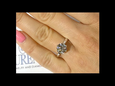 2.00 ct Round Diamond Engagement Ring in 6-Prongs Tiffany Style