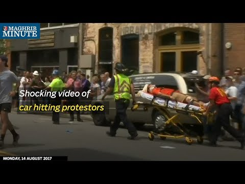 Video obtained by Reuters shows the moment a car hits protesters in Charlottesville killing one and injuring 30.