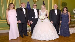 Vice President Pence officiates wedding for Treasury Secretary Steven Mnuchin actress Louise Linton.Treasury Secretary Steven Mnuchin and Scottish actress ...