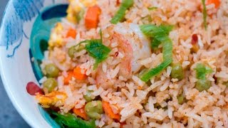 This will be the best fried rice you ever stirred in your wok! Recipe on my website:  http://rookiewithacookie.com/shrimp-fried-rice-2/