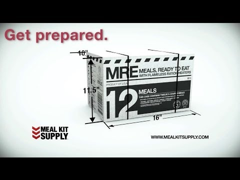 Emergency Food Supply | Meal Kit Supply MREs, Meals Ready to Eat