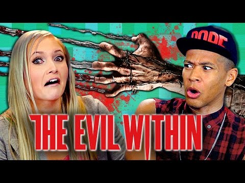 ADULTS PLAY THE EVIL WITHIN (Adults React: Gaming)