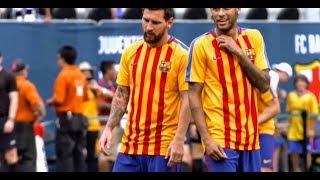 El Barcelona ha debutado en pretemporada con Neymar de titular. Jugó solo la primera parte pero no le hicieron falta más...