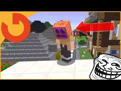 PLAYER CAN'T REMOVE THIS FROM THEIR HEAD! (Minecraft Trolling) (видео)