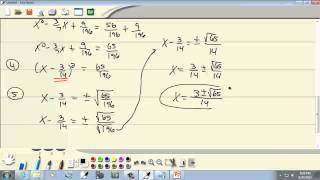 College Algebra: Quadratic Equations