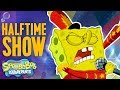 Super Bowl SpongeBob SquarePants Halftime 🏈Show Moment | Nick