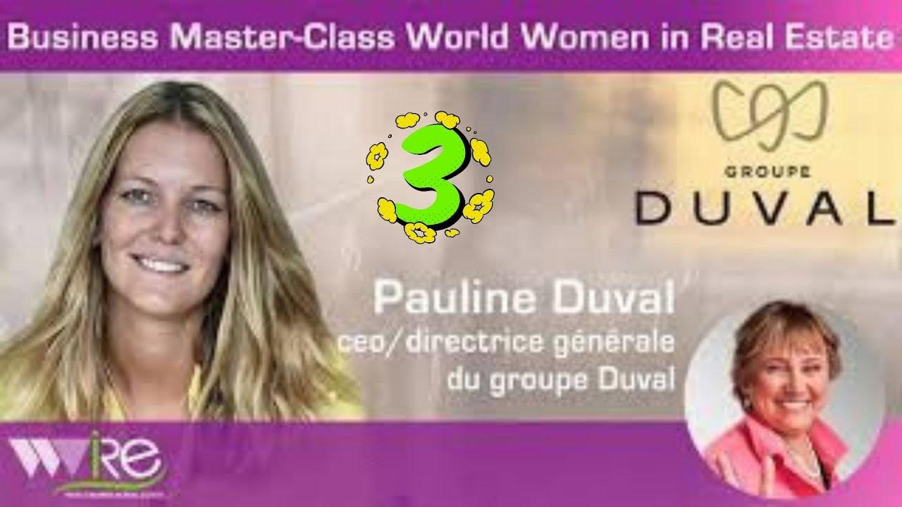 Troisième partie DE LA BUSINESS MASTER CLASS DE PAULINE DUVAL CEO DU GROUPE DUVAL