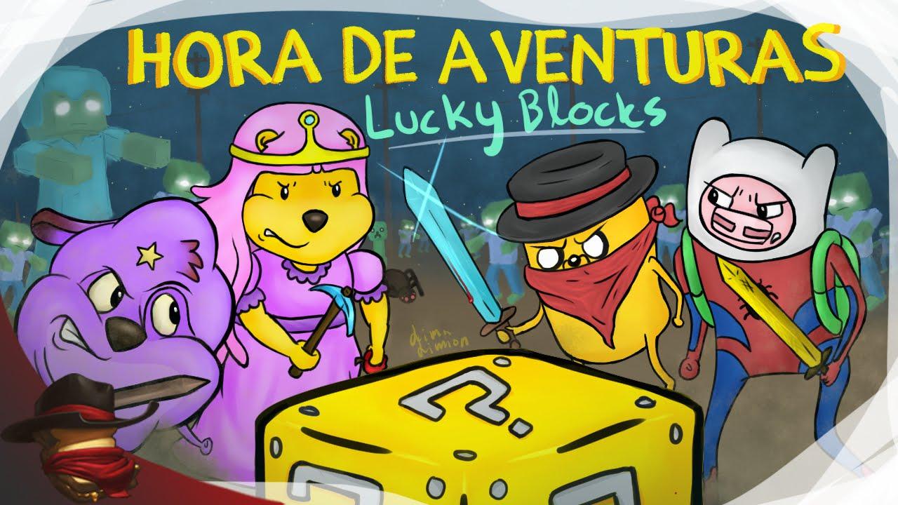 Hora De Aventuras | Lucky Blocks | Con Sara, Luh y Exo
