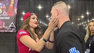 John Cena searches out Nikki Bella for a kiss at Wizard World Philadelphia: June 7, 2016 Video