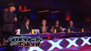 The viewers quiz the judges as they receive a surprise visit from Al Roker, Zach asks for clarification from Mel B, and Diana has a...