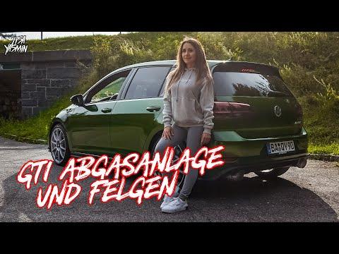 VW Golf 7 GTI   APR Abgasanlage & Felgen   Lisa Yasmin