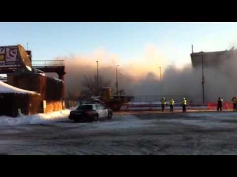 VIDEO: Metrodome Explosion Takes Out Concrete Ring