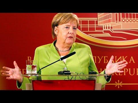 Επίσκεψη Μέρκελ στα Σκόπια – Πείτε «ναι» στο δημοψήφισμα το μήνυμα της…