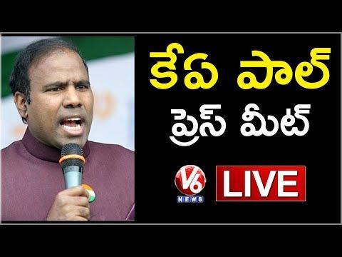 KA Paul Press Meet Live | Hyderabad | V6 News
